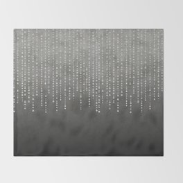 Silver Glamour Faux Glitter on grey Texture Throw Blanket
