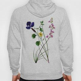 Vintage Wildflowers Yellow Purple and Pink Hoody