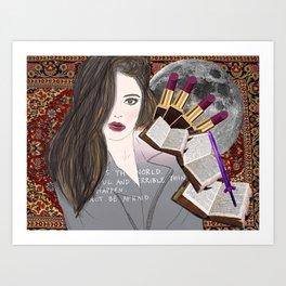Intelligence and Beauty  Art Print