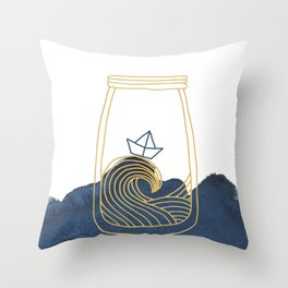 Bottled Sea Throw Pillow