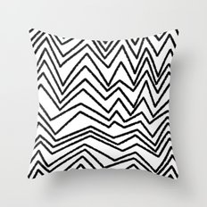 Graphic_Chevron freehand Throw Pillow