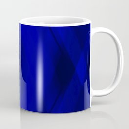 Ice triangular strokes of intersecting crisp lines with blue triangles and stripes. Coffee Mug
