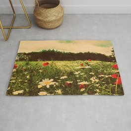 Poppies In Pilling  Rug