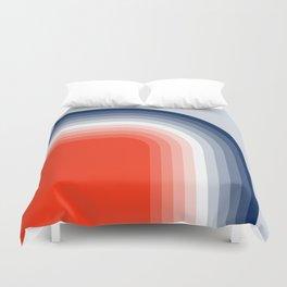 70s Stripes Rainbow Duvet Cover