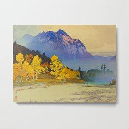 Vintage Japanese Woodblock Print American Landscape Hiroshi Yoshida Metal Print