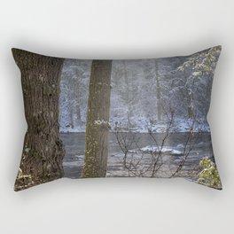 Sunbreak on a Snowy Day Rectangular Pillow