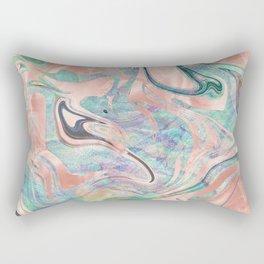 Pastel Rose Gold Mermaid Marble Rectangular Pillow