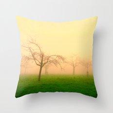 Morning Fog  - JUSTART © Throw Pillow