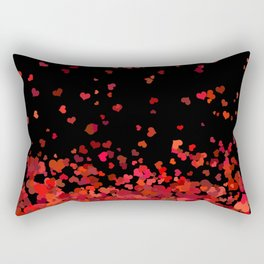 Hearts confetti in the night print Rectangular Pillow