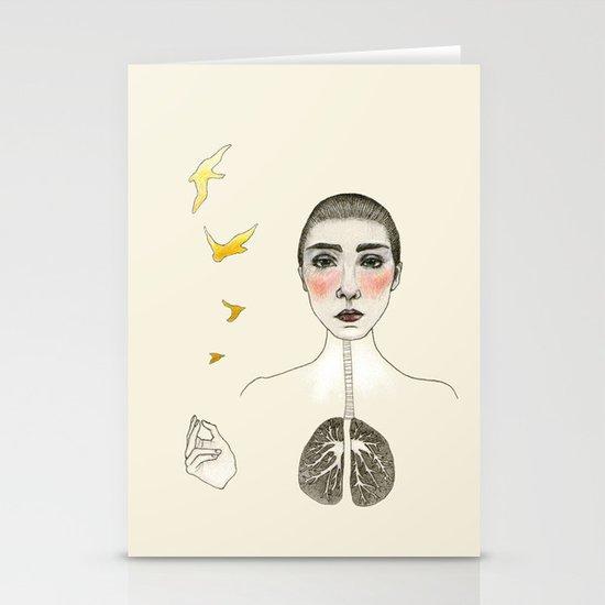 kara akciğer Stationery Cards