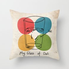 This is my glass of Dali Throw Pillow