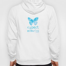 EXPECT MIRACLES - blue butterfly Hoody