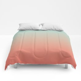 Ombre Living Coral with Turquoise Comforters