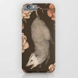 The Opossum and Peonies iPhone Case