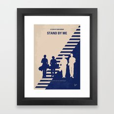 No429 My Stand by me minimal movie poster Framed Art Print