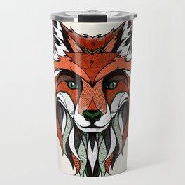Fox // Colored Travel Mug