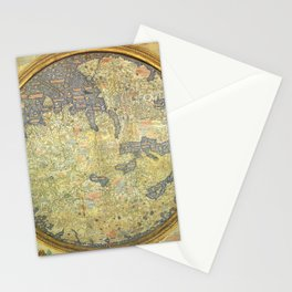 The Fra Mauro World Map Circa 1450 Stationery Cards
