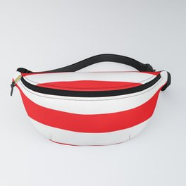Christmas Red and White Cabana Stripes Fanny Pack