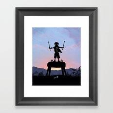 Robin Kid Framed Art Print