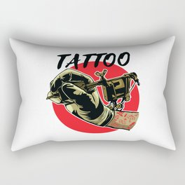 Tattoo Machine Rectangular Pillow