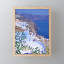 Fira, Santorini Framed Mini Art Print
