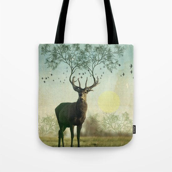 Evergreen Stage Horn Tote Bag