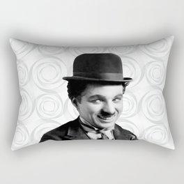Charlie Chaplin Old Hollywood Rectangular Pillow