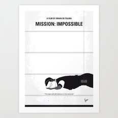 No583 My Mission Impossible minimal movie poster Art Print