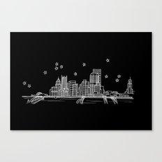 Pittsburgh, Pennsylvania City Skyline Canvas Print
