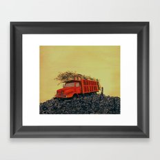 sugar cane and truck on fire Framed Art Print