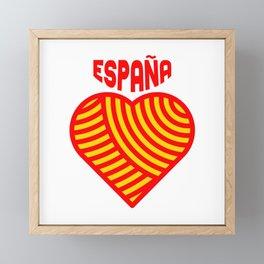 amo españa Framed Mini Art Print