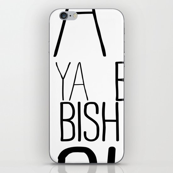 YA  BISH iPhone & iPod Skin