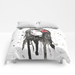 Wild dripping girl Comforters