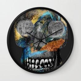 24k Black Sea Skelly Wall Clock