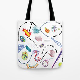 Typography in Design-Toy Pattern Tote Bag