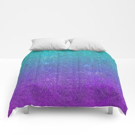 Tropical Twilight Glitter Gradient Comforters
