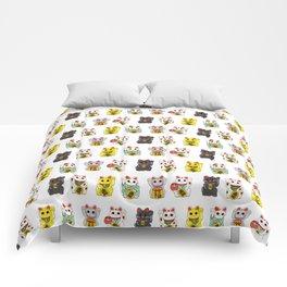 Lucky Cat / Maneki Neko Comforters