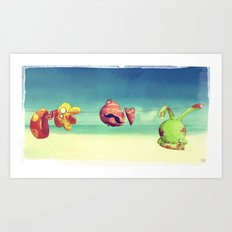 I confused things with their names Art Print