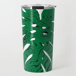 Monstera cheese plant house plants yoga studio minimalist art hipster decor Travel Mug
