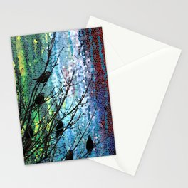 Birds of A Feather Abstract Digital Artwork by Mark Compton Stationery Cards
