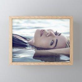 Beautiful Woman in the Water Framed Mini Art Print