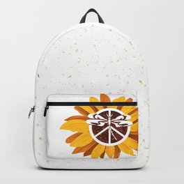 Vintage Faith Hope Love Peace Sign SunFlower Grand Junction City Backpack