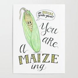 Veggie Pun - You Are Amaizing Poster