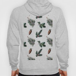 Winter Foliage in Snow White Hoody