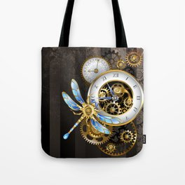 Dials with Dragonfly ( Steampunk ) Tote Bag