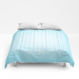 Warped in Blue Comforters