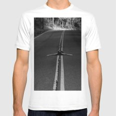risky business  MEDIUM White Mens Fitted Tee