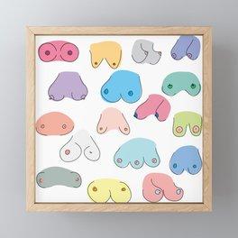 Boobies Framed Mini Art Print