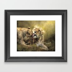 Sisterly Affection Framed Art Print