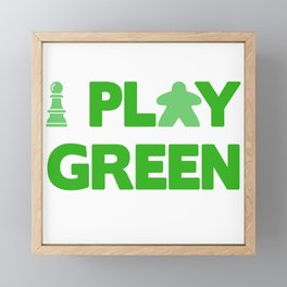 Show Your Game Color - Green Framed Mini Art Print